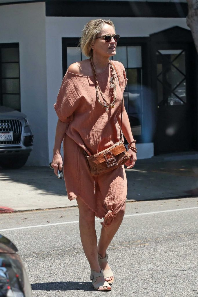 Sharon Stone Was Spotted Out in Beverly Hills-2