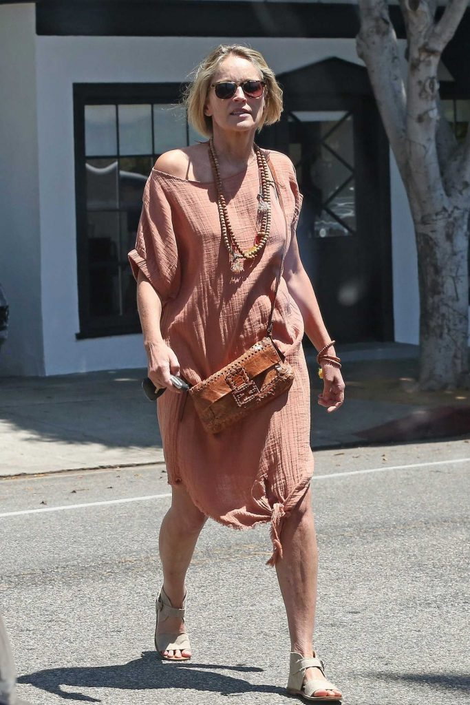 Sharon Stone Was Spotted Out in Beverly Hills-3