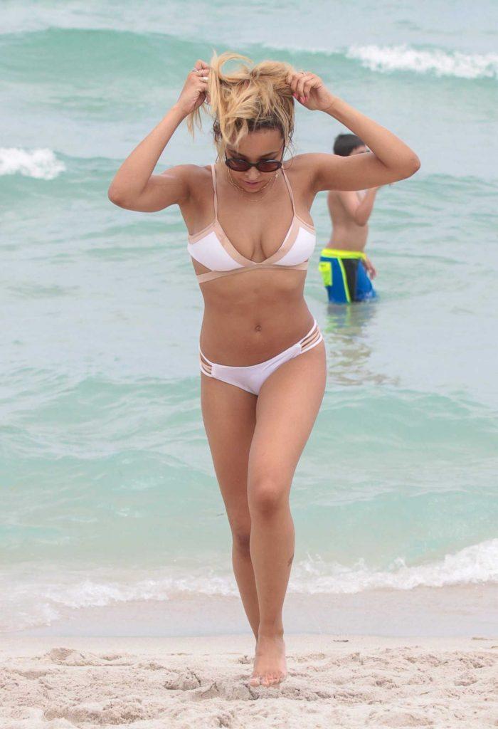 Tinashe in Bikini at the Beach in Miami-1