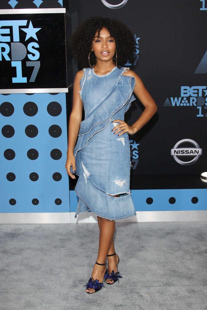 Yara Shahidi at the BET Awards in Los Angeles-1