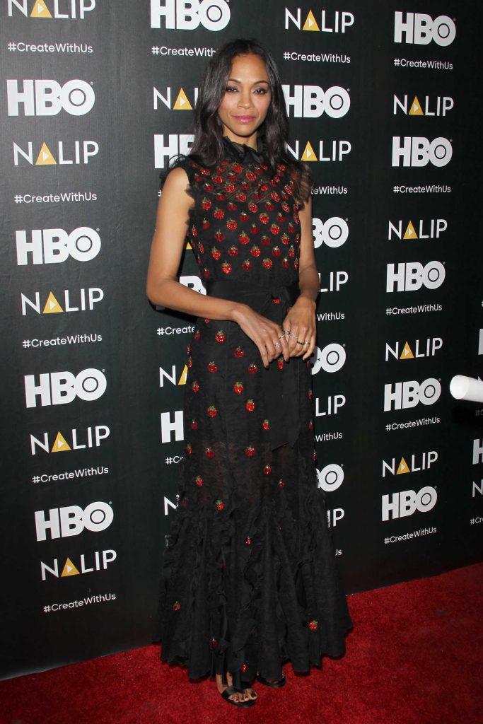Zoe Saldana at the NALIP Latino Media Awards in Los Angeles-1