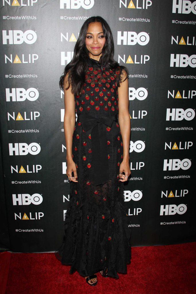 Zoe Saldana at the NALIP Latino Media Awards in Los Angeles-2