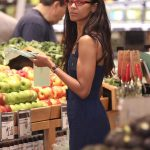 Zoe Saldana Goes Shopping at Whole Foods in Beverly Hills