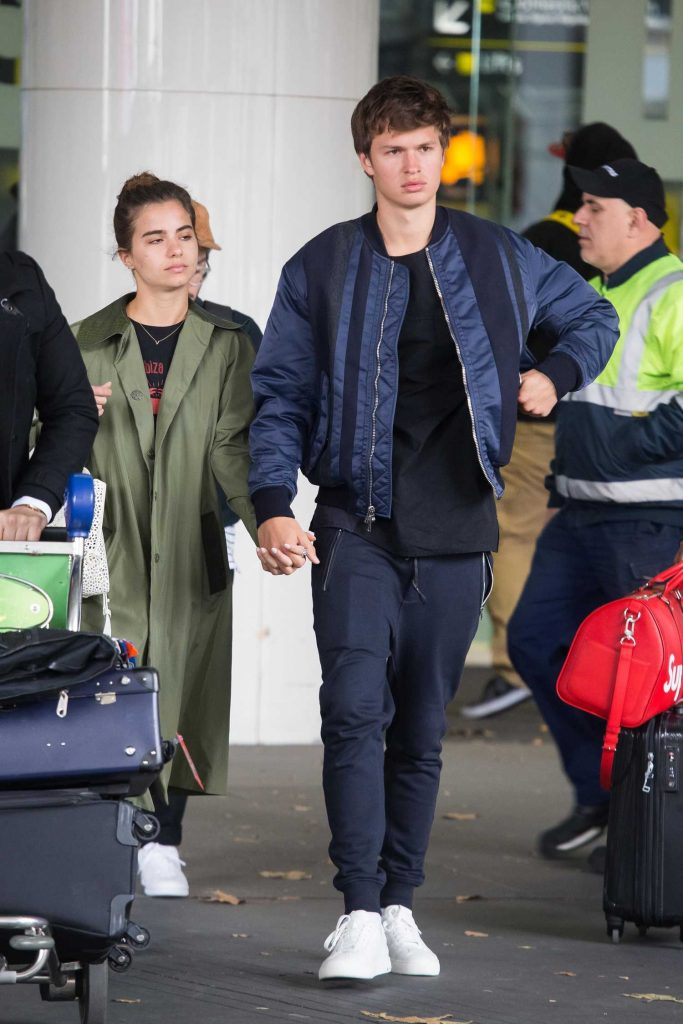 Ansel Elgort Arrives at Melbourne Airport With His Girlfriend Violetta Komyshan-3