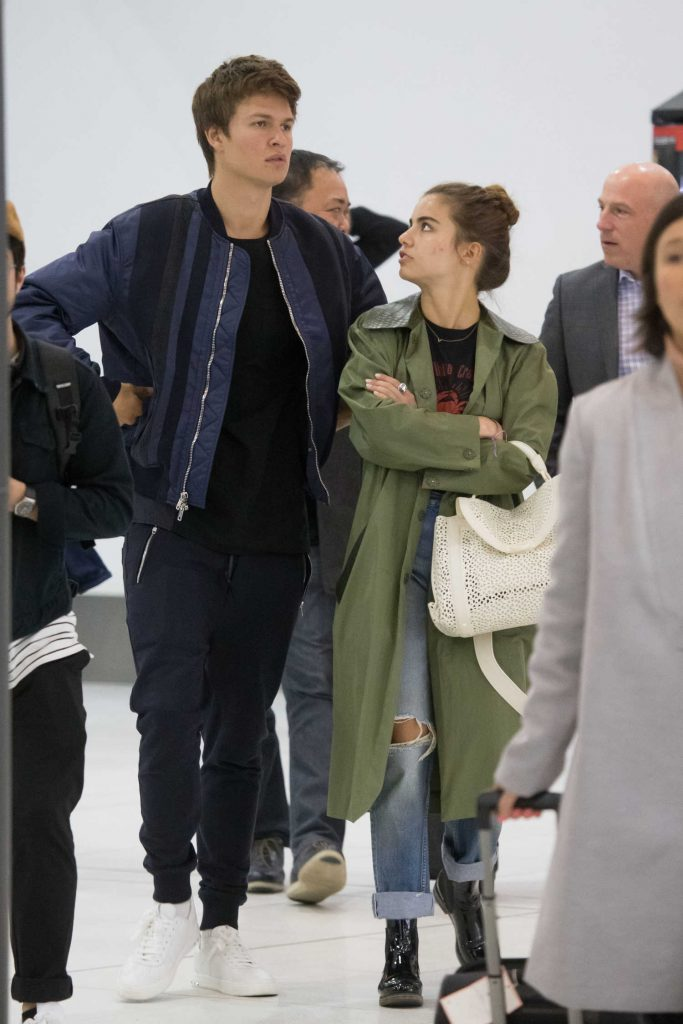 Ansel Elgort Arrives at Melbourne Airport With His Girlfriend Violetta Komyshan-5