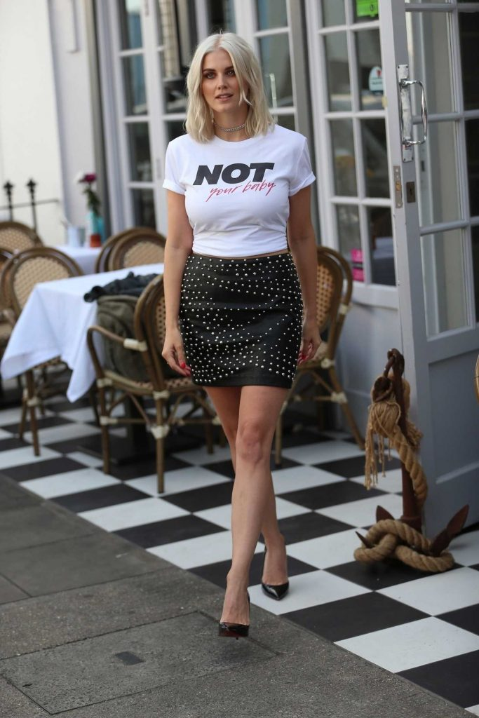 Ashley James Arrives at Egalitee Launch in London-2