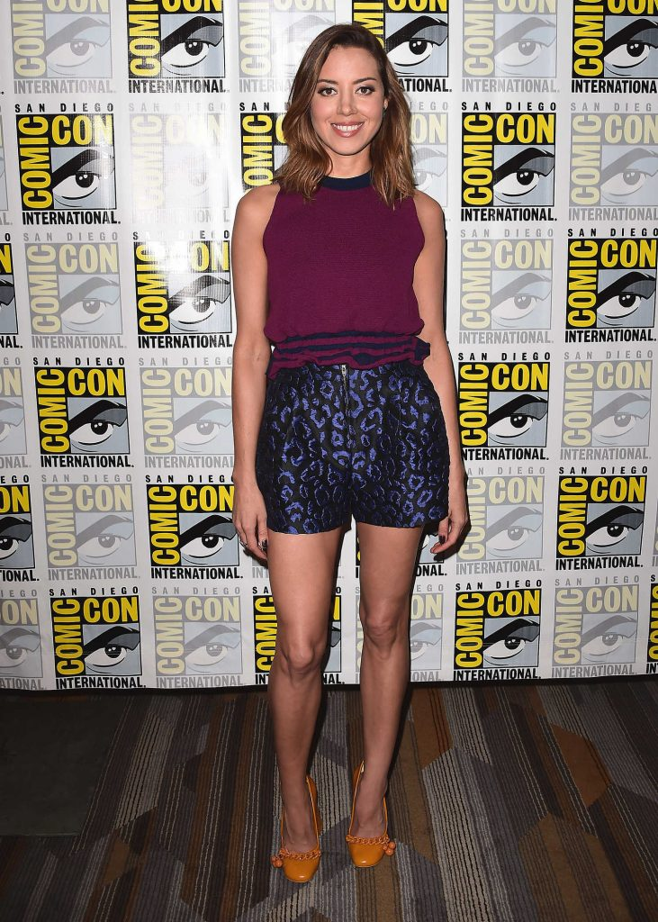 Aubrey Plaza at Legion Presentation During the San Diego Comic-Con International-1