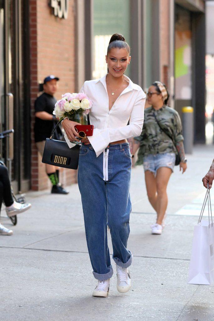 Bella Hadid Leaves Milk Studios in New York City-1