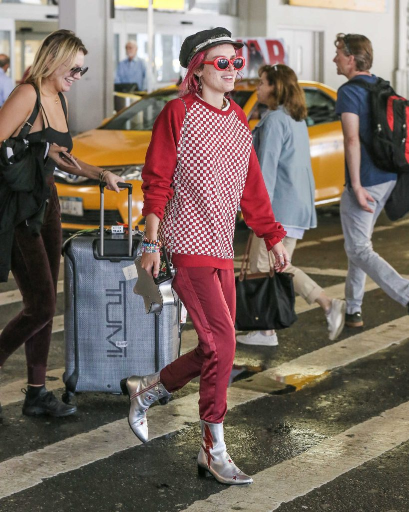Bella Thorne at JFK Airport in New York City-5
