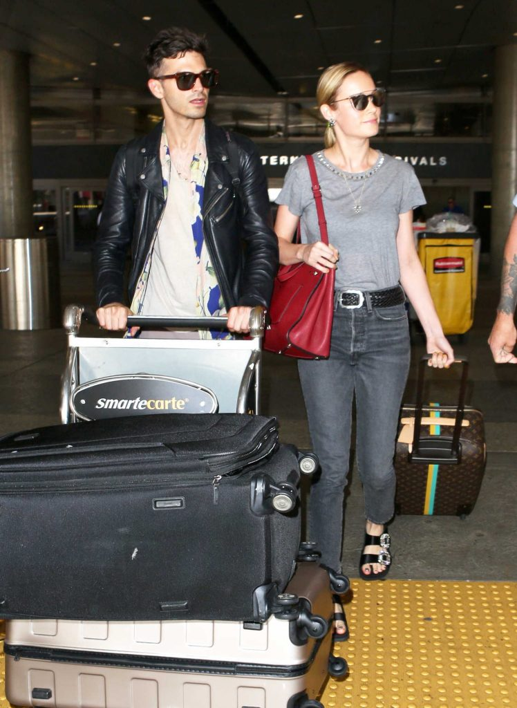 Brie Larson and Her Fiance Alex Greenwald Return to LA-2