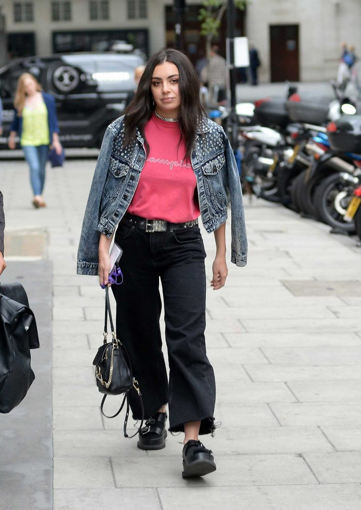 Charli XCX Arrives at BBC Broadcasting House in London-1