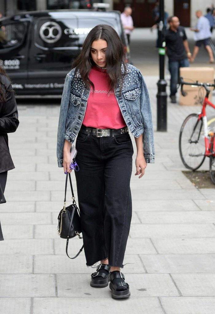 Charli XCX Arrives at BBC Broadcasting House in London-2