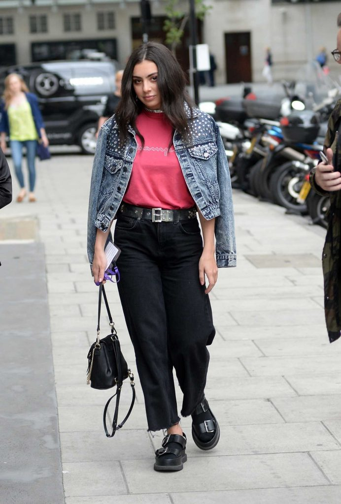 Charli XCX Arrives at BBC Broadcasting House in London-3