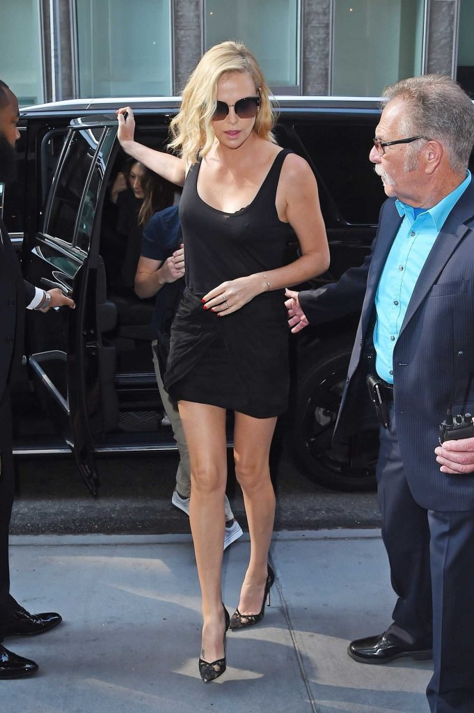 Charlize Theron Arrives at The Howard Stern Show in New York City-3