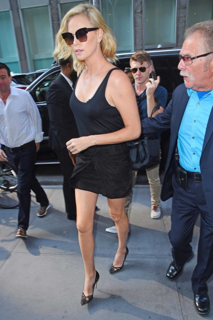 Charlize Theron Arrives at The Howard Stern Show in New York City-4