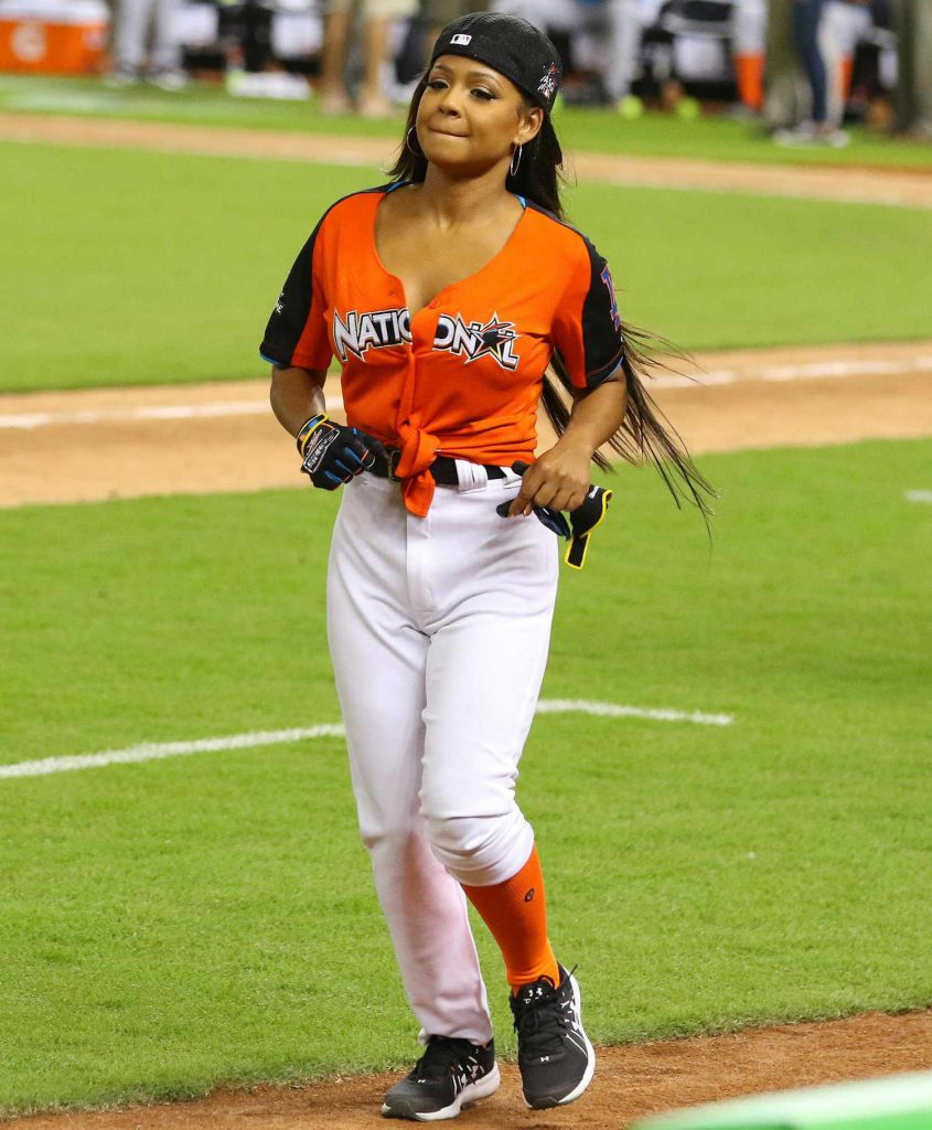 Christina Milian Attends the 2017 MLB All-Star Legends and Celebrity Softball at Marlins Park in Miami-3