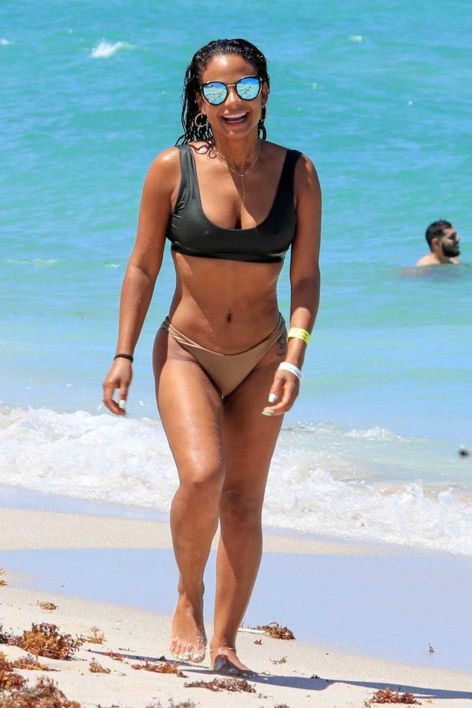 Christina Milian in Bikini at the Beach in Miami-1