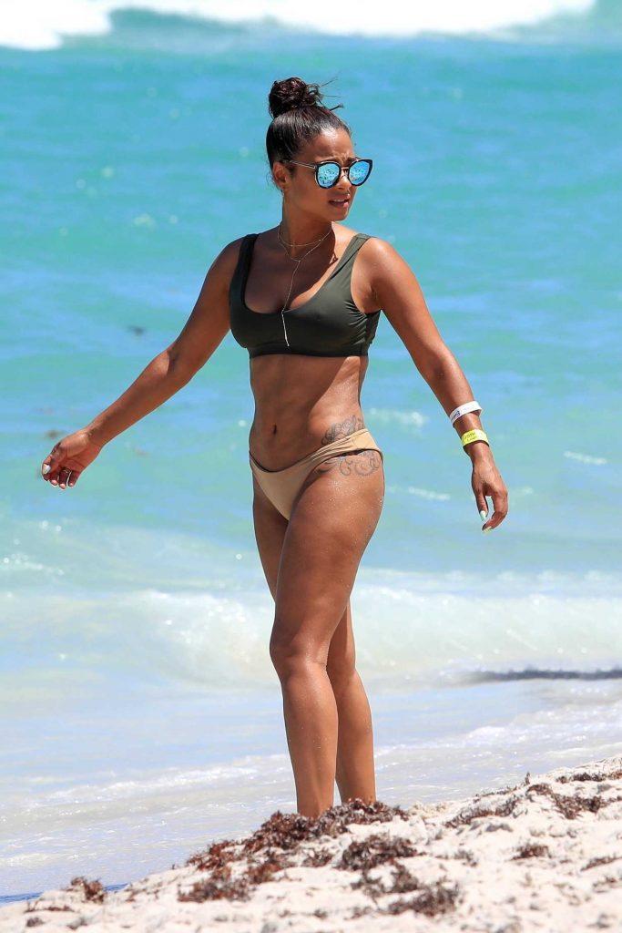 Christina Milian in Bikini at the Beach in Miami-2