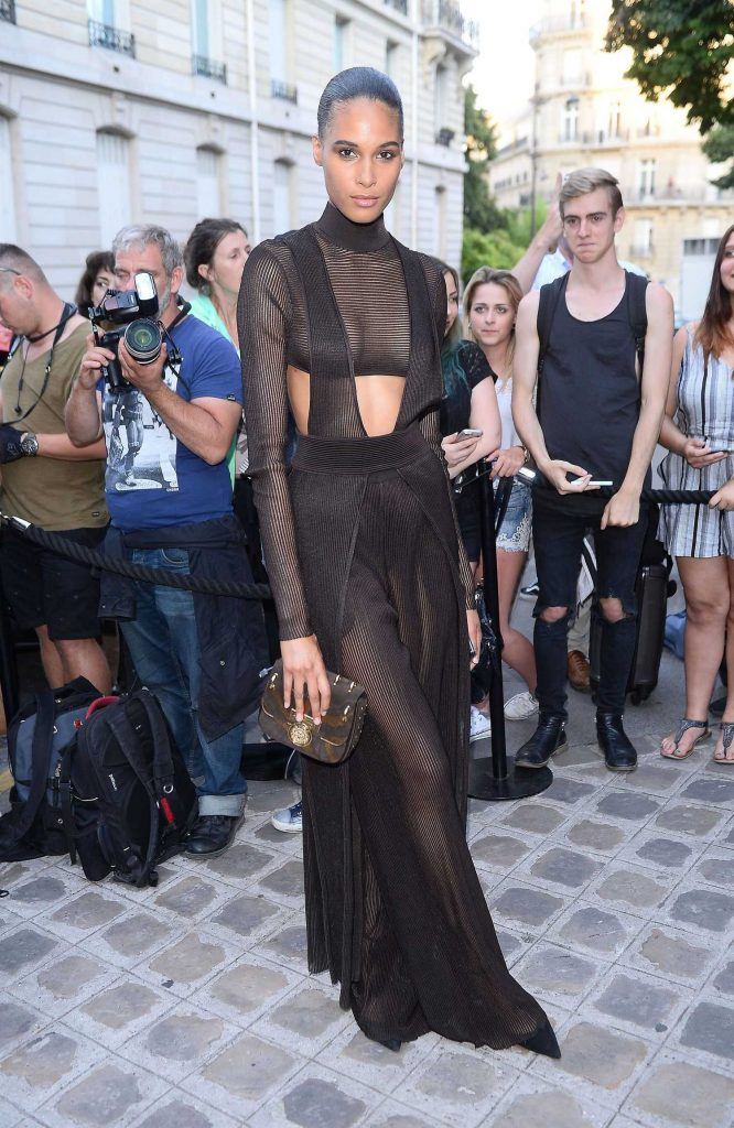 Cindy Bruna Arrives at the Vogue Party at Musee Galliera During the Haute Couture Fashion Week in Paris-1