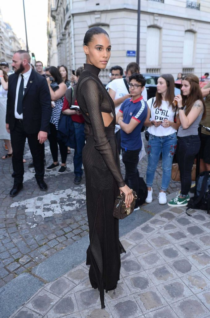 Cindy Bruna Arrives at the Vogue Party at Musee Galliera During the Haute Couture Fashion Week in Paris-2