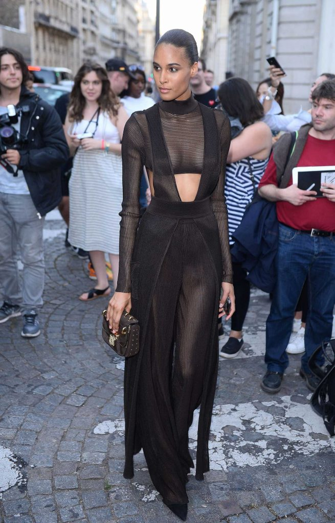 Cindy Bruna Arrives at the Vogue Party at Musee Galliera During the Haute Couture Fashion Week in Paris-3