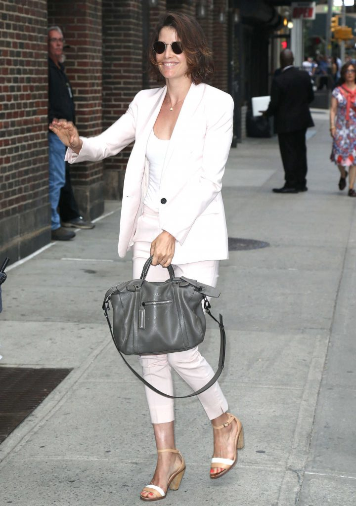 Cobie Smulders Arrives at The Late Show With Stephen Colbert in New York City-1