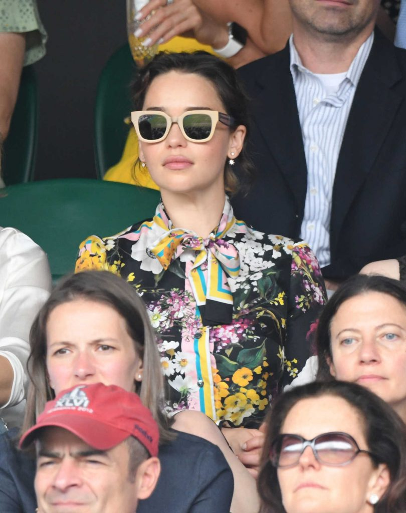 Emilia Clarke at Wimbledon Championships Finals in London-3
