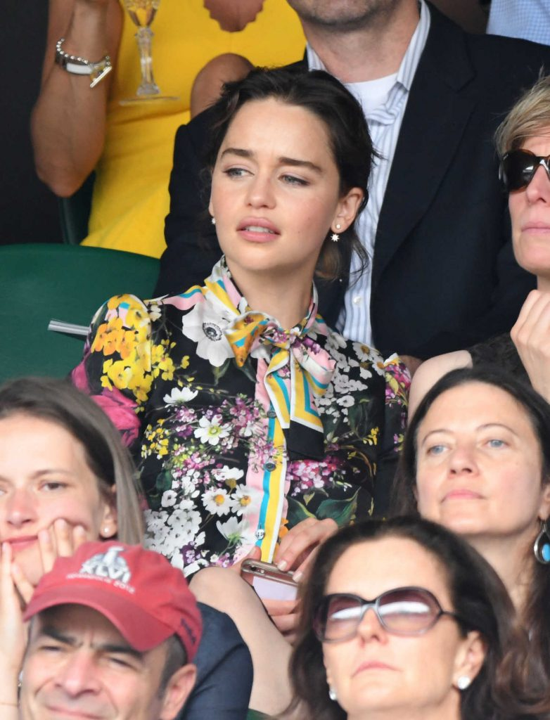 Emilia Clarke at Wimbledon Championships Finals in London-4