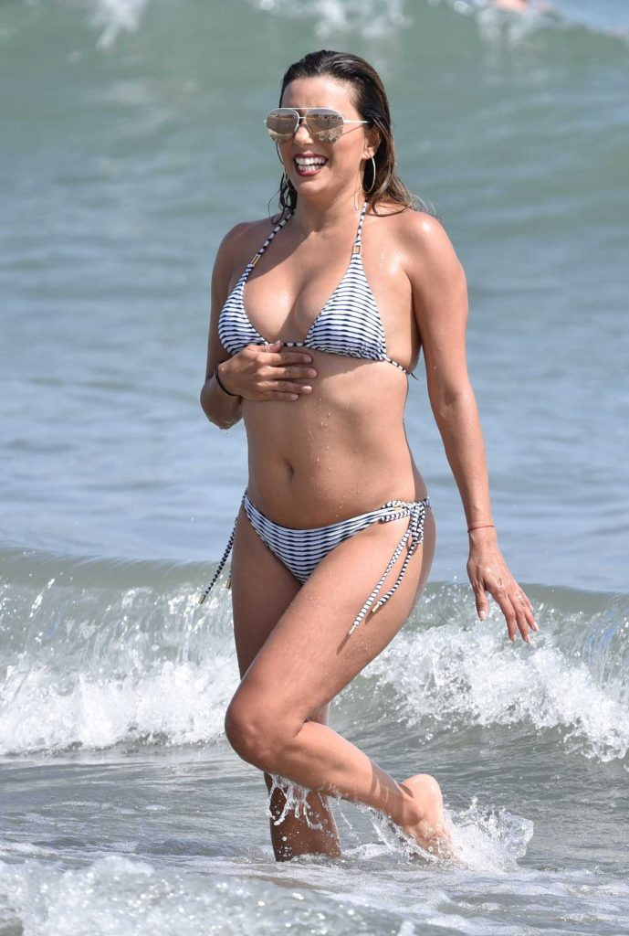 Eva Longoria at the Beach in Marbella, Spain-4