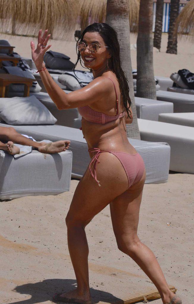 Eva Longoria in Bikini at the Beach in Marbella, Spain-3