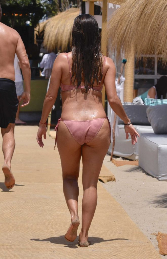 Eva Longoria in Bikini at the Beach in Marbella, Spain-4