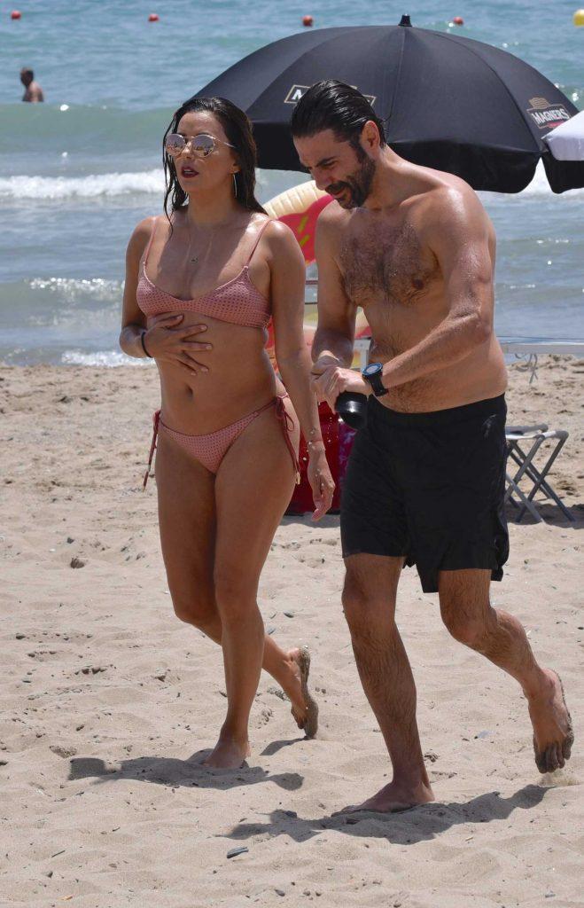 Eva Longoria in Bikini at the Beach in Marbella, Spain-5