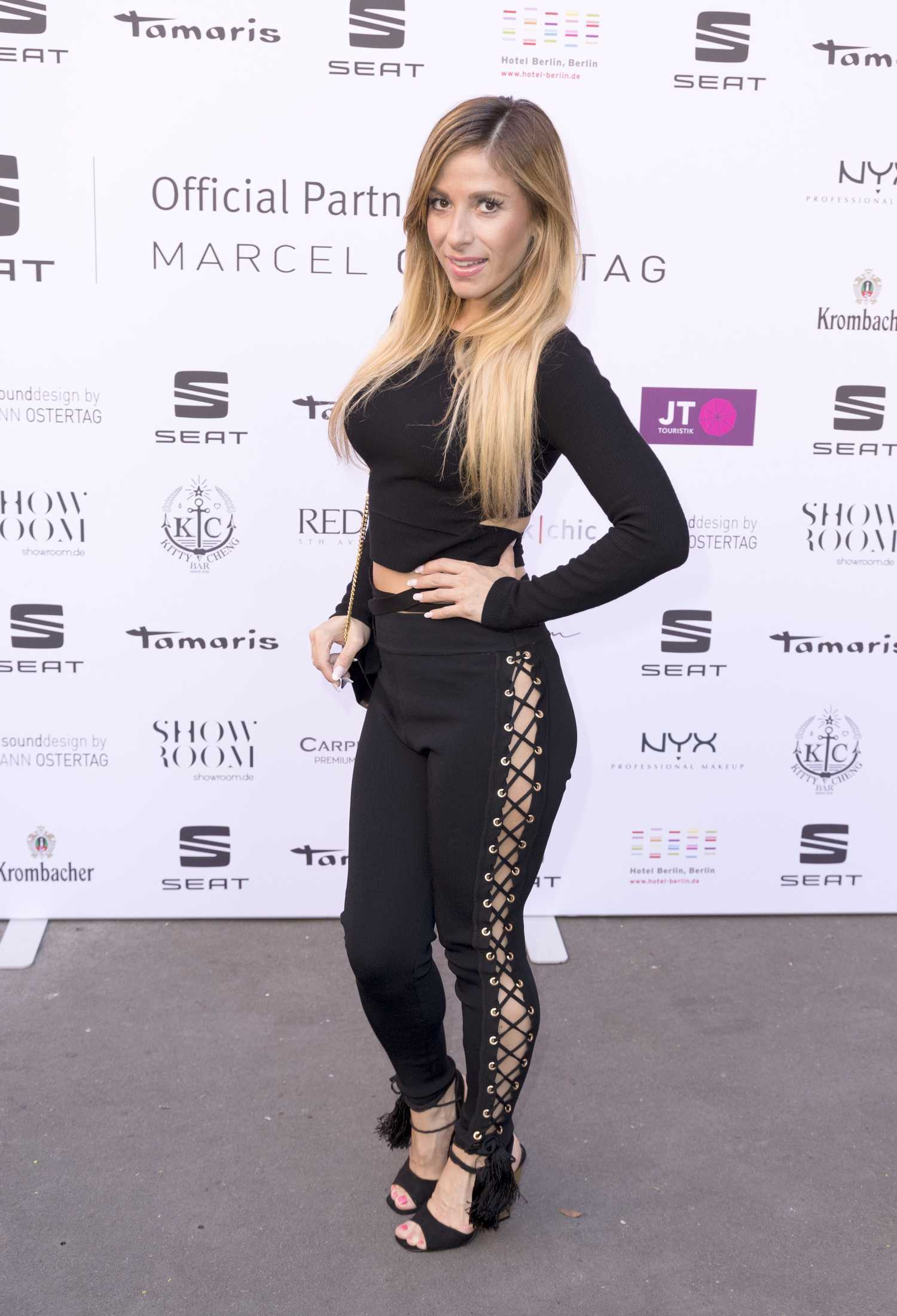Gulcan kamps at the marcel ostertag fashion show during for Mercede benz fashion week