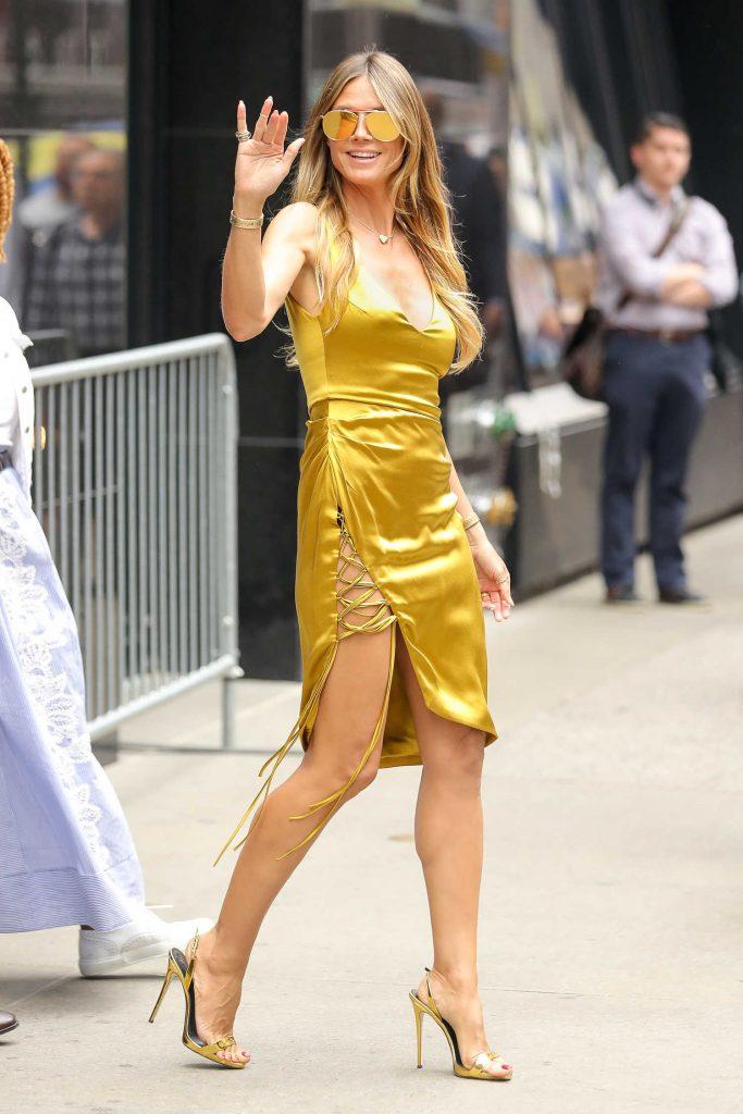 Heidi Klum Leaves Good Morning America in New York City-2