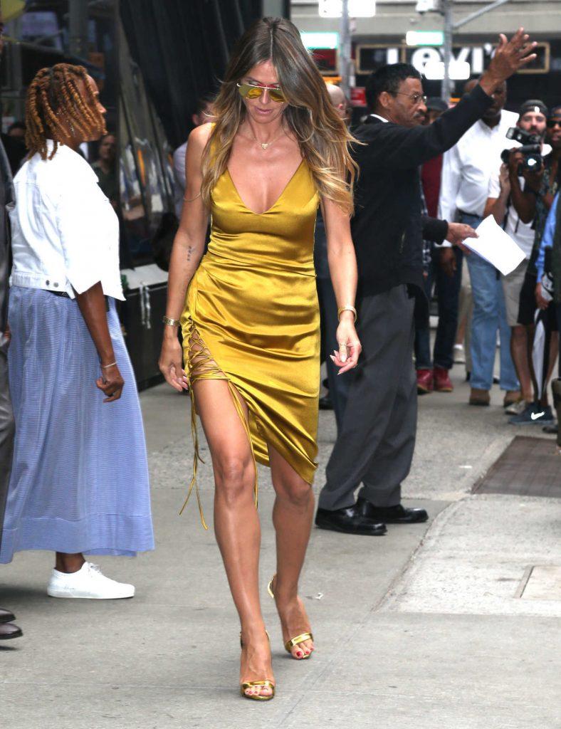 Heidi Klum Leaves Good Morning America in New York City-3