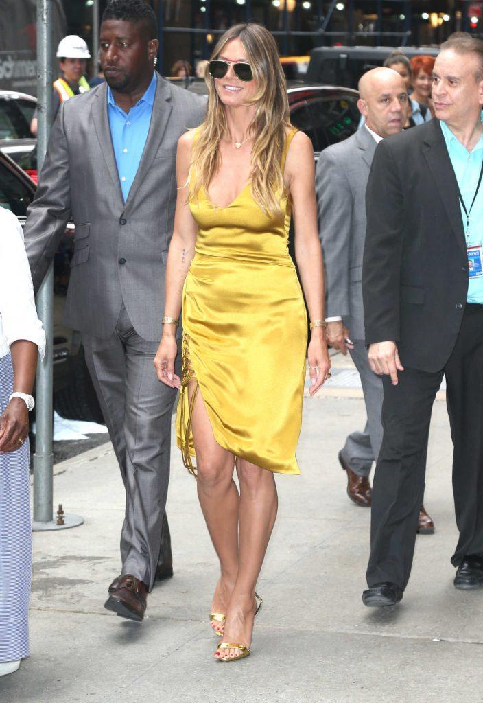 Heidi Klum Leaves Good Morning America in New York City-4