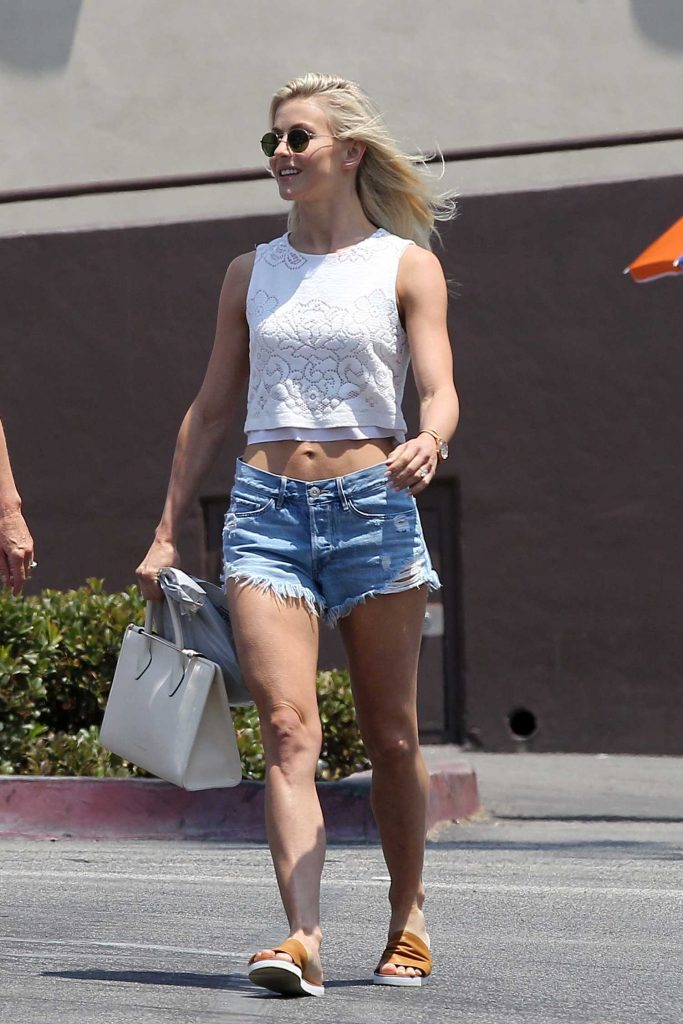 Julianne Hough Wears Cutoffs Denim Shorts Out in LA-1