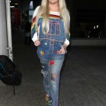 Kesha Lands at LAX Airport in Los Angeles