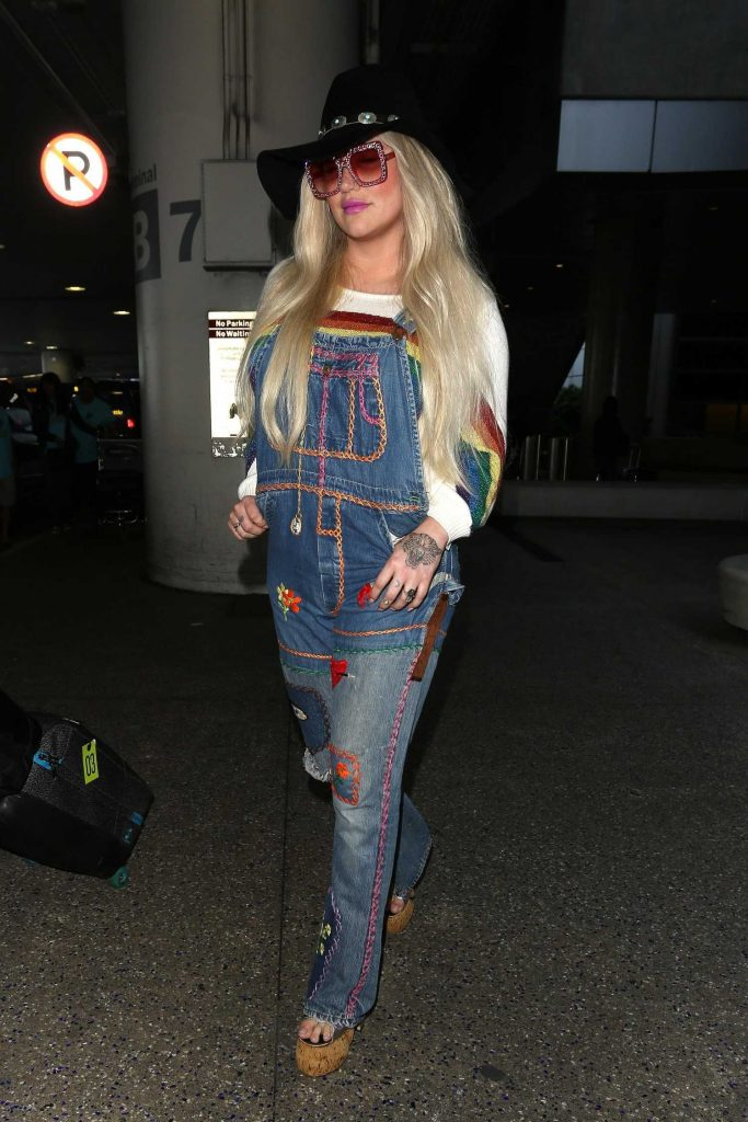 Kesha Lands at LAX Airport in Los Angeles-4