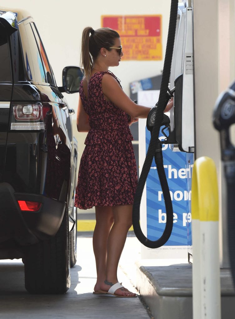 Lea Michele Was Seen at a Gas Station in West Hollywood-1