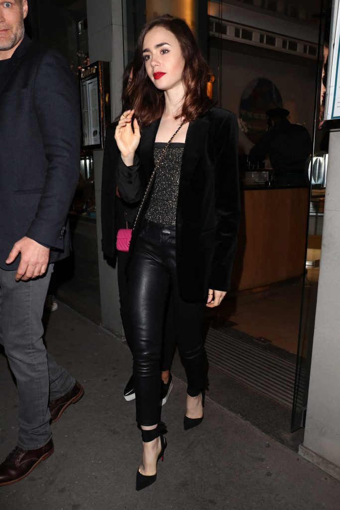 Lily Collins Was Seen Out in Paris, France-1