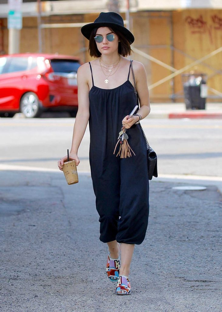 Lucy Hale Grabs Iced Coffee in Studio City-3