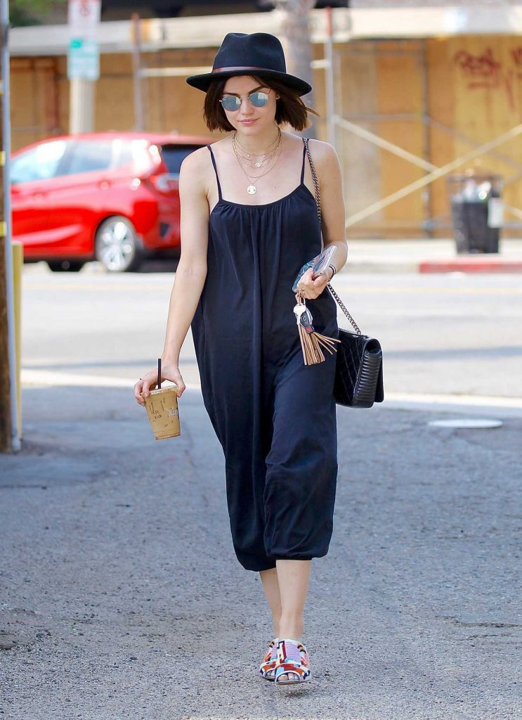 Lucy Hale Grabs Iced Coffee in Studio City-4