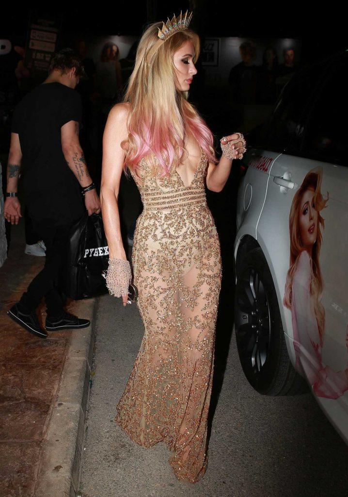 Paris Hilton Night Out in Ibiza-3