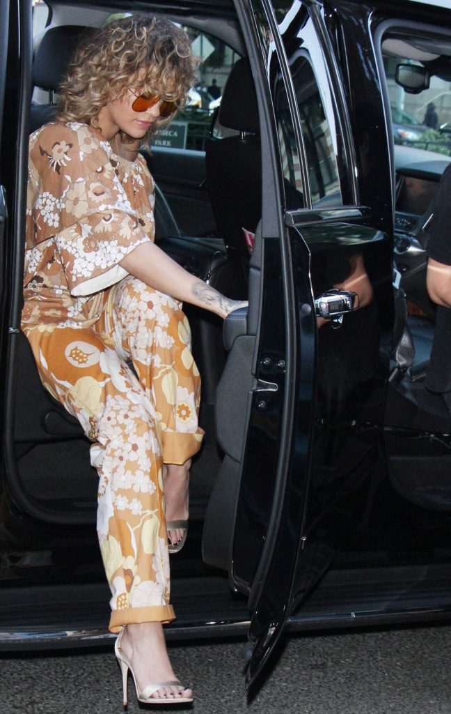 Rita Ora Arrives at Z100 Studios in New York-1