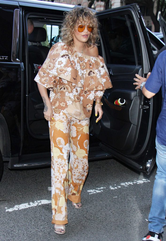 Rita Ora Arrives at Z100 Studios in New York-2