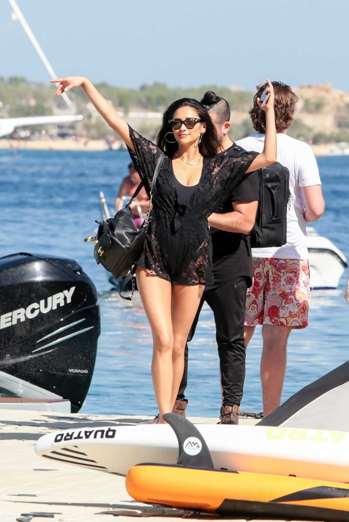 Shay Mitchell Arrives on a Boat on Mykonos-1
