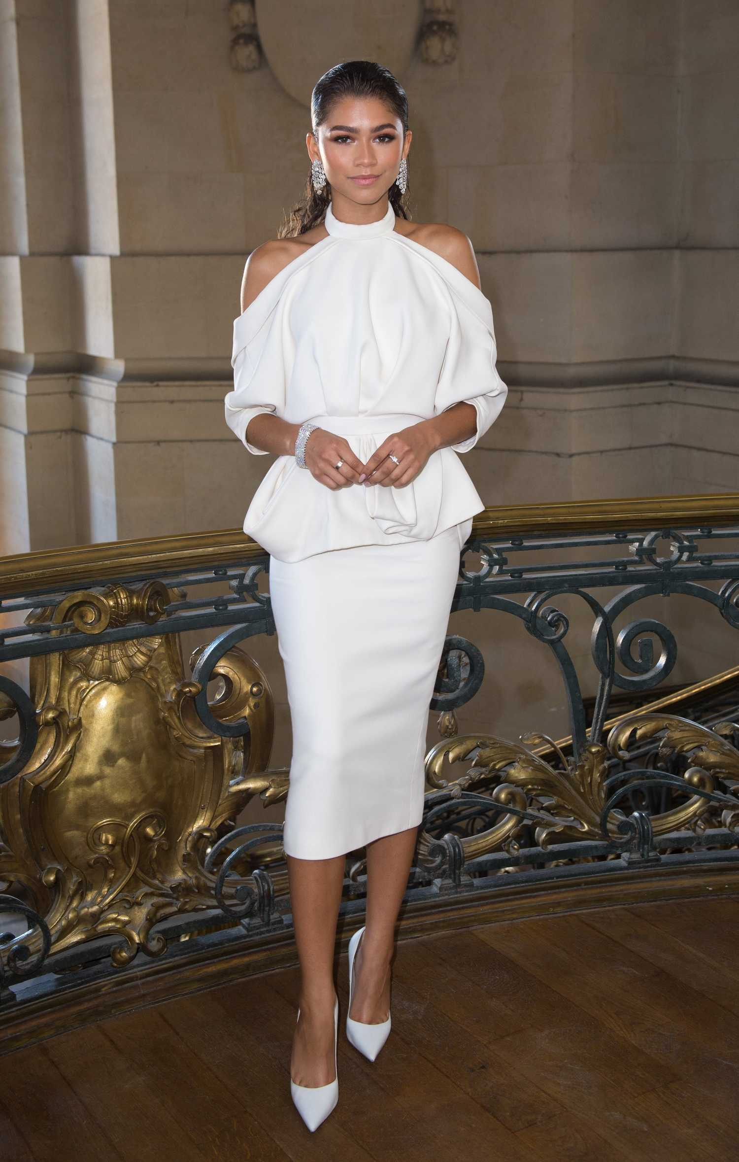 Zendaya at the ralph russo show during the haute couture for Couture garments