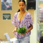 Zoe Saldana Goes Shopping in Beverly Hills, CA