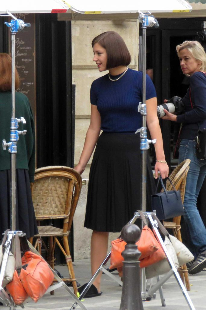 Adele Exarchopoulos on the Set of Her New Film The White Crow in Paris-1